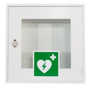 17.016-AED-Metallschrank-o.Alarm-Front-weiss