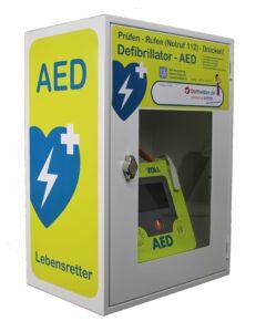 AED Wandschrank mit WLAN Anbindung
